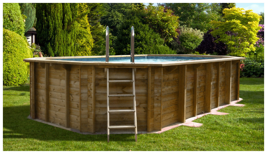 piscine bois octo allongée - woodfirst original - image principale