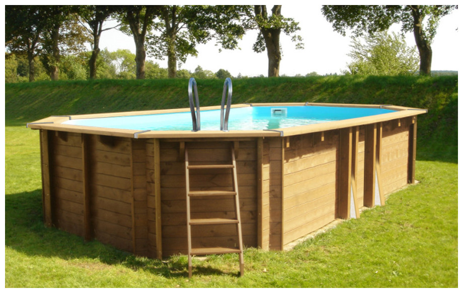 piscine bois en kit à monter Woodfirst Original mise en situation