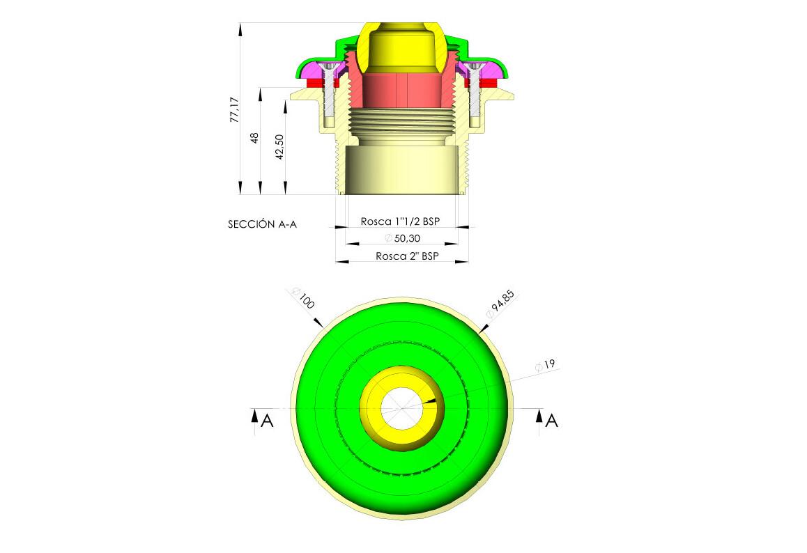 dimensions de la buse de refoulement liner NET041080N
