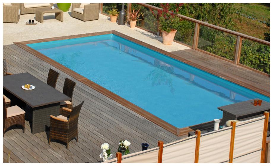 Woodfirst Original Rectangulaire 800 x 400 x 146 cm - la piscine bois rectangulaire en kit tout compris