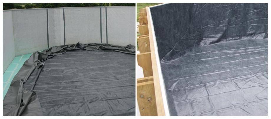 piscine bois rectangulaire Woodfirst Original tapis et feutre de parois