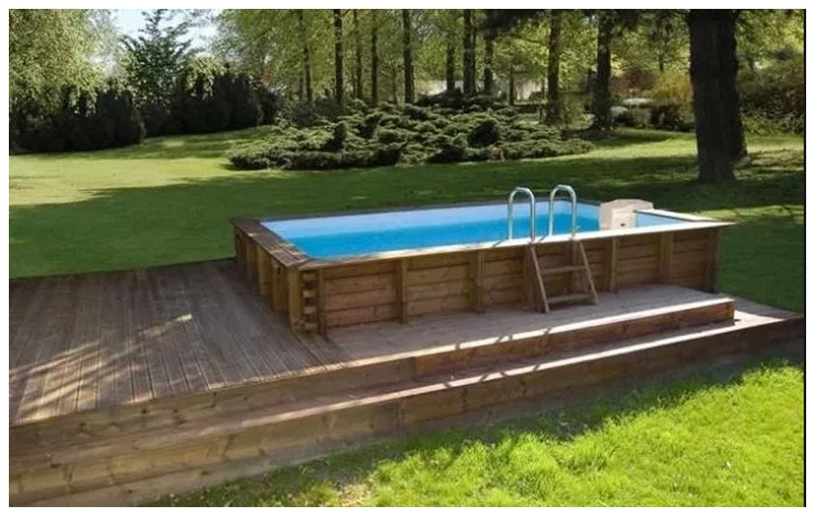 Woodfirst original 800 400 piscine bois construire for Rail liner piscine bois