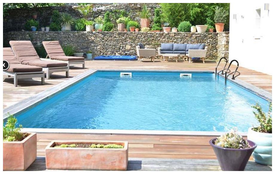 piscine bois Woodfirst Original rectangulaire installation