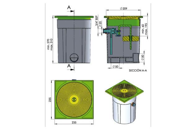 R gulateur pour skimmer pieces sceller piscine b ton for Regulateur niveau d eau piscine