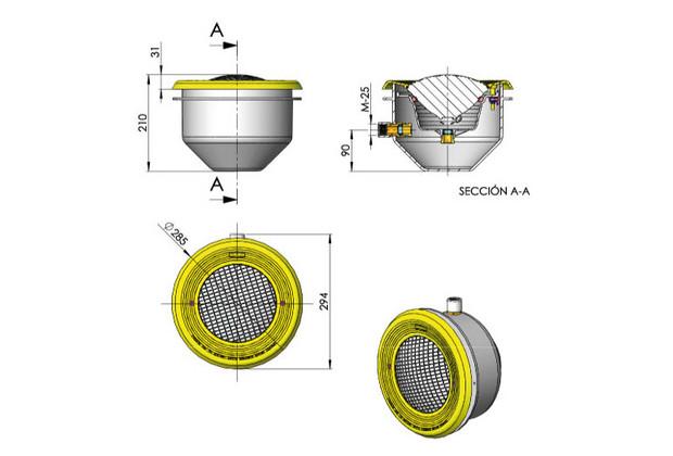 eclairage piscine béton et liner - dimensions