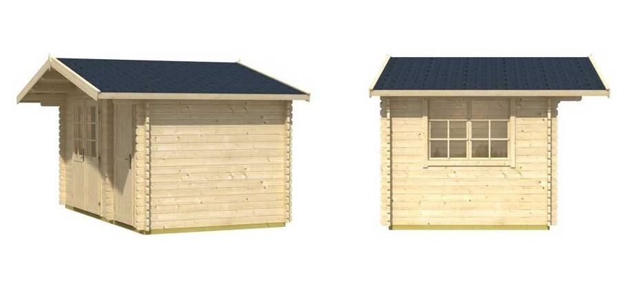 Détail de la toiture de l abri de jardin en bois Borkum 5 Lasita Maja en situation