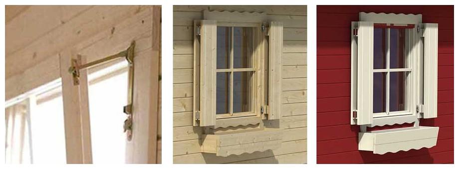 détail de la fenêtre de l'abri de jardin Corsica 44 Lasita Maja en situation