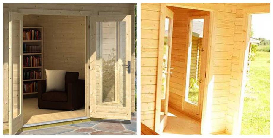 détail de la fenêtre de l'abri de jardin Barbados 1 Lasita Maja en situation