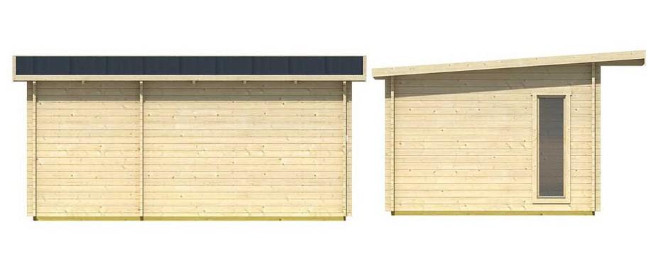 Détail de la toiture de l abri de jardin en bois Barbados 1 Lasita Maja en situation