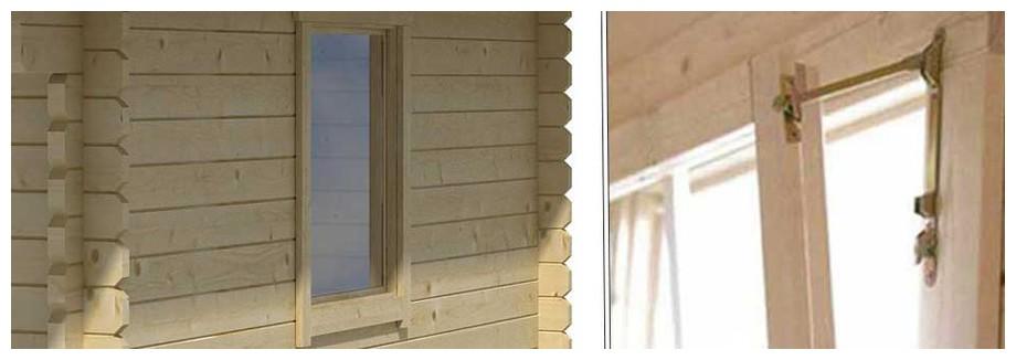 détail de la fenêtre de l'abri de jardin Gotland 5 H Lasita Maja en situation