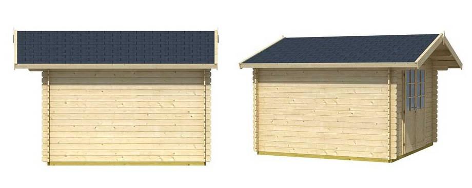 Détail de la toiture de l abri de jardin en bois Cyprus 3D Lasita Maya en situation