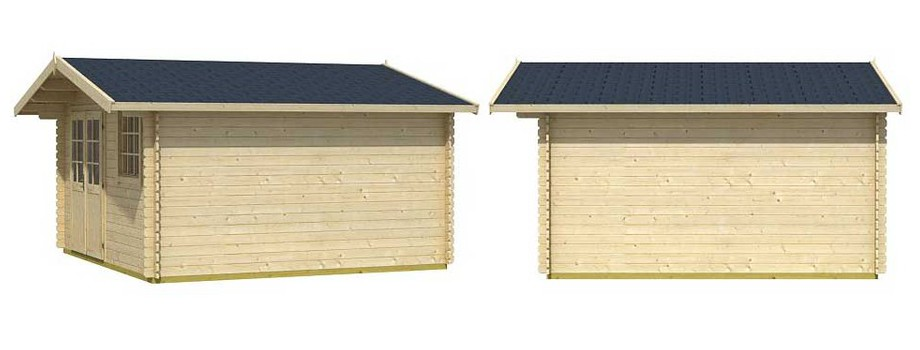 Détail de la toiture de l abri de jardin en bois Cyprus 5E Lasita Maja en situation