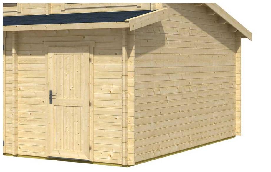 détail des matériaux du garage en bois Hawai B Lasita Maja en situation