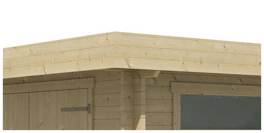détail de la toiture du garage en bois Canberra 44 A Lasita Maja en situation