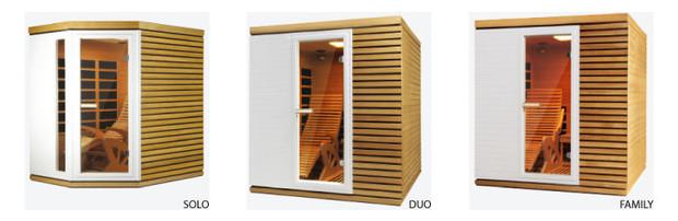 sauna infrarouge gamme alto prestige - types de cabines