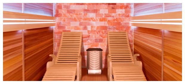 alto sel sauna vapeur holl's avec mur de sel intérieur