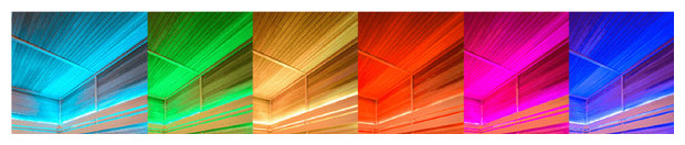 cabine sauna vapeur - chromatherapie