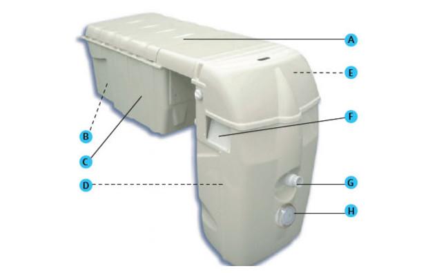 Bloc de filtration piscine mx 18 piscine center net for Bloc filtration piscine enterre