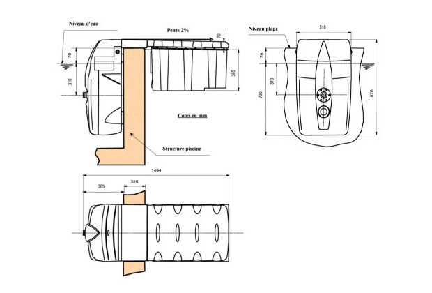 Filtrinov mx 25 bloc filtration piscine center net for Bloc filtration piscine