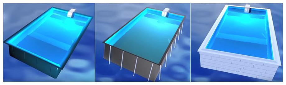 structure de piscine pour bloc de filtration filtrinov mx18