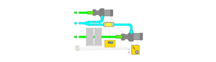 schéma d'installation du bloc filtrant filtrinov mx18 détail