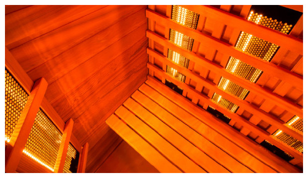 sauna infrarouge multiwave - vue interieur zoom panneaux