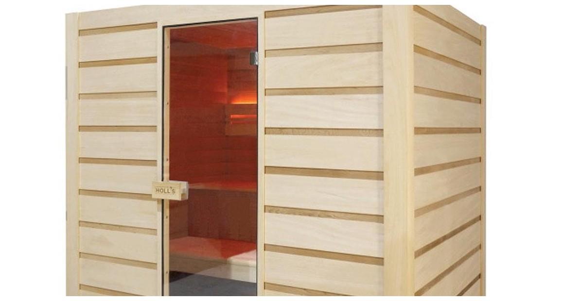zoom sur la abine sauna vapeur traditionnelle holl's eccolo