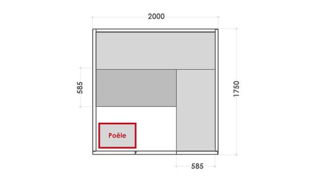 cabine de sauna vapeur eccolo - dimensions