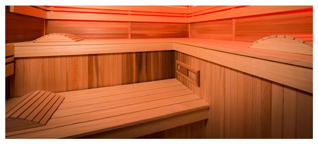 cabine sauna traditionnel eccolo - detail vue intérieure