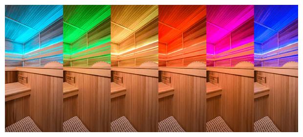 cabine sauna vapeur eccolo- chromothérapie