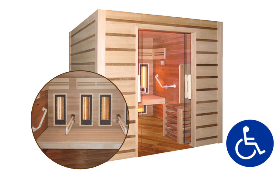 sauna vapeur et infrarouge hybride combi access en situation