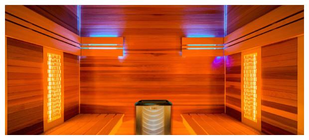 sauna vapeur et infrarouge - Holl's Hybride Combi - detai cabine