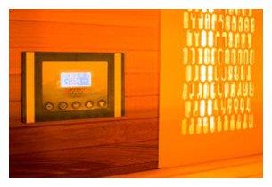 cabine de sauna infrarouge et vapeur - panneau HI FI