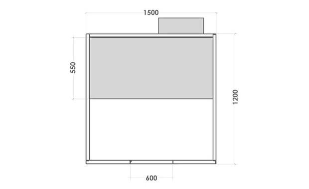 cabine hammam holl's multivap - dimensions