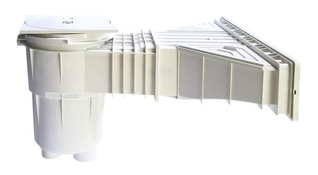 Skimmer grande meurtri re effet miroir liner et b ton for Miroir rond xxl