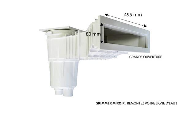 Skimmer grande meurtri re effet miroir liner et b ton for Skimmer pour piscine