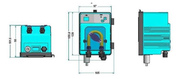 pompe doseuse MP2 - dimensions