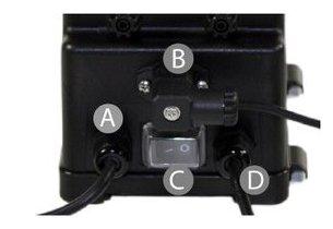 Pompe doseuse multi usage pour piscine microdos - detail branchement