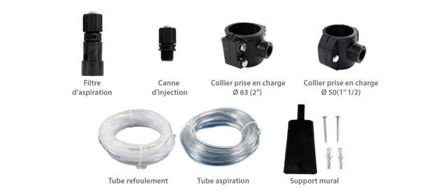 Pompe doseuse multi-usage / accessoires fournis