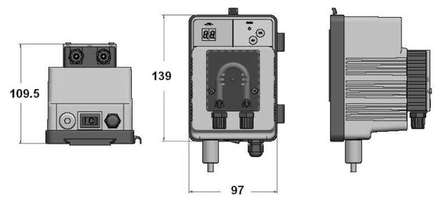 pH Speedy - dimensions - pompe doseuse