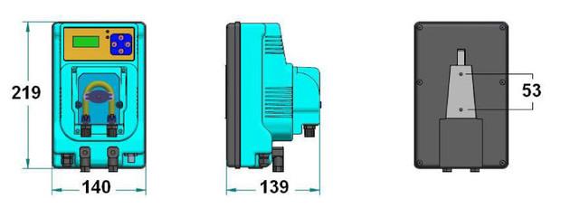 MP PRO Redox / pH - dimensions du boîtier