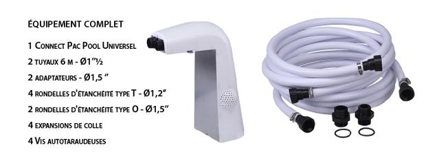 kit universel pour la connexion de pompe a chaleur piscine