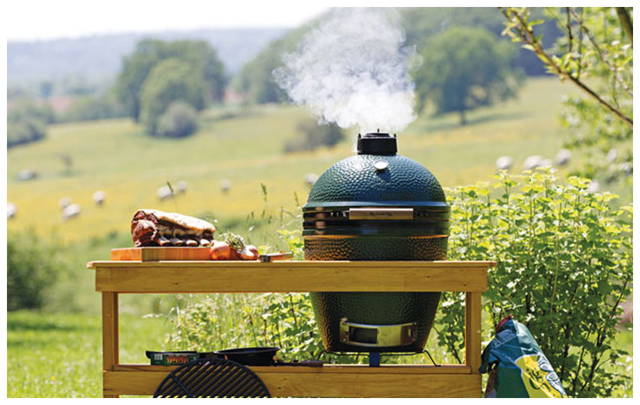 Barbecue Big Green Egg en situation