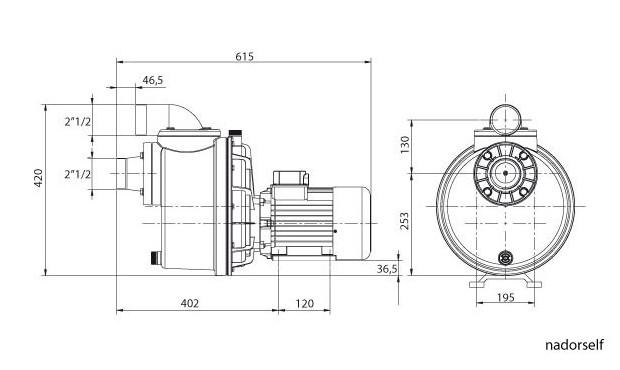 pompe NCC nadorself - dimensions