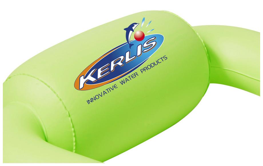 détails du matelas gonflable piscine pool pod vert kerlis