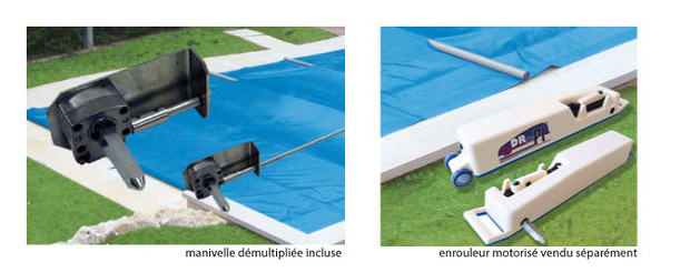 Couverture piscine securit pool access prot ge s curise for Bache a barre piscine motorise