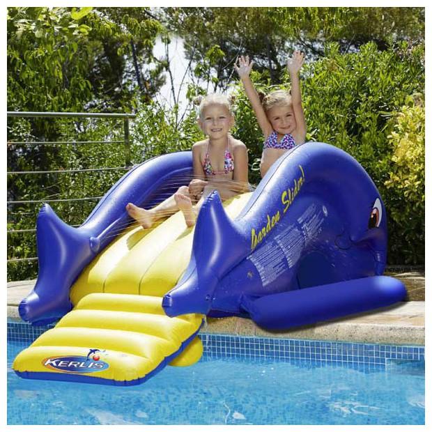 toboggan gonflable - jeux de piscine Kerlis
