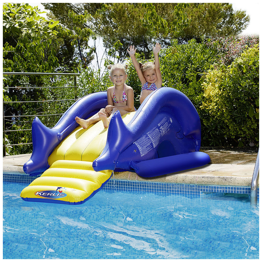 Jeux de piscine gonflables toboggan kerlis piscine for Piscine center