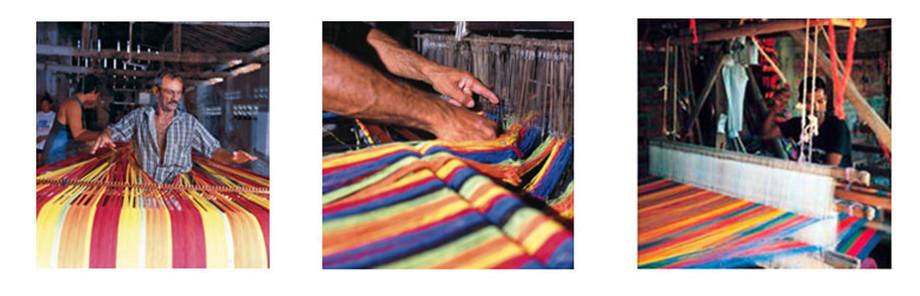 fabrication artisanale du hamac Gigante Lava