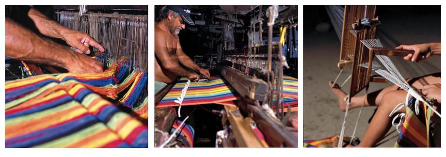 fabrication artisanale du hamac Paradisio